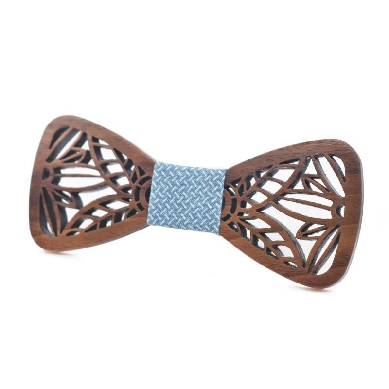 Noeud Papillon en bois sculpté